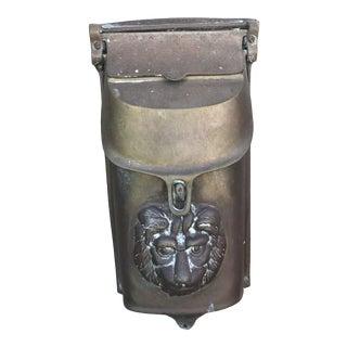 Antique Bronze Lion Mailbox For Sale