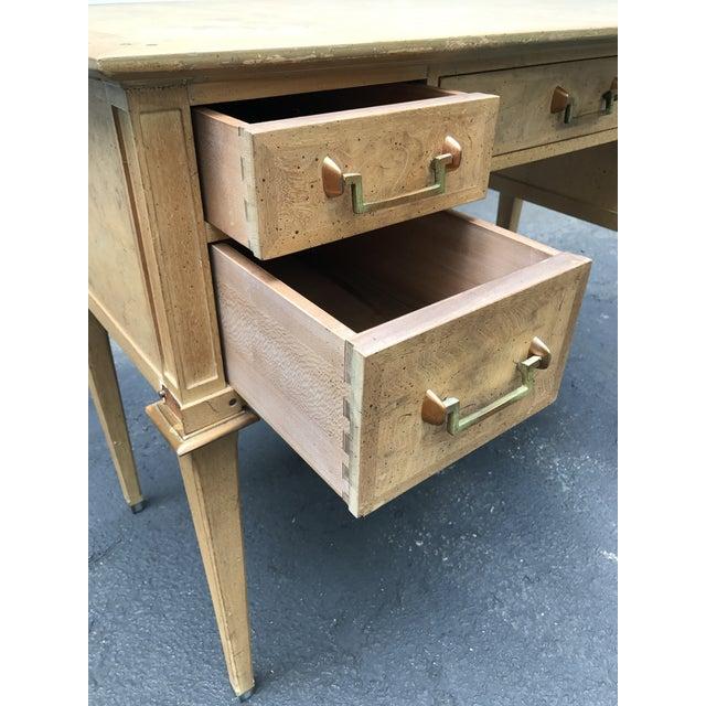 Mastercraft Desk Burled Wood - Image 4 of 11