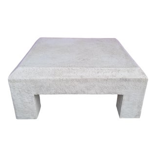 Vintage Postmodern Plaster Coffee Table For Sale