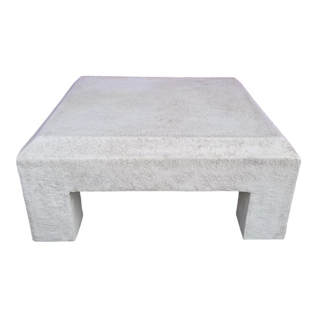 Vintage Postmodern Plaster Coffee Table For Sale