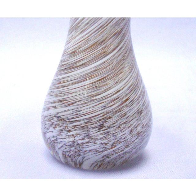 Murano Art Glass Brown White Swirl Mushroom - Image 9 of 11