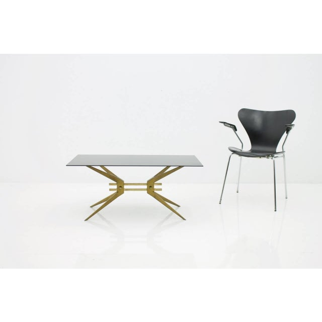Metal Italian Coffee Table in Brass and Glass, 1950s For Sale - Image 7 of 8