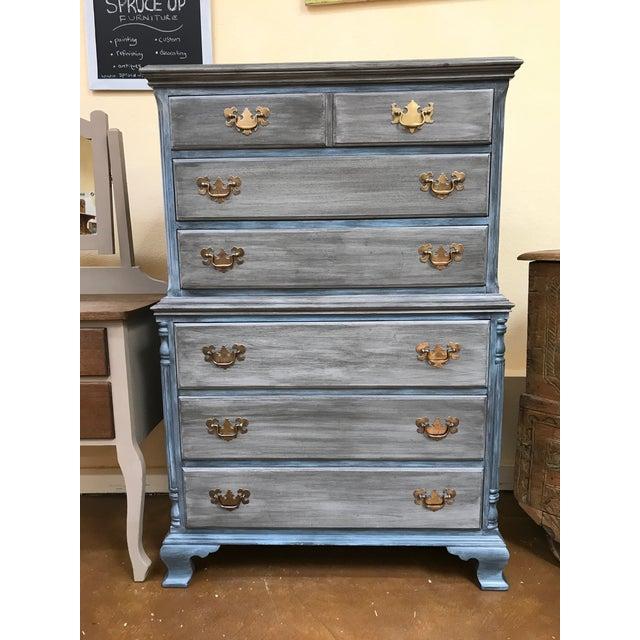 Blu & Gray Tall Boy Dresser - Image 2 of 9
