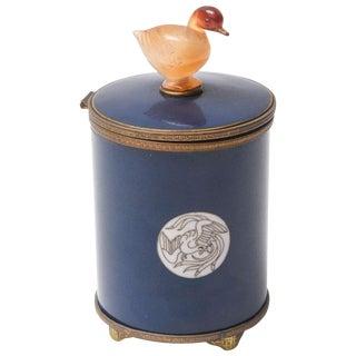 Vintage Enameled Cigarette Dispenser For Sale