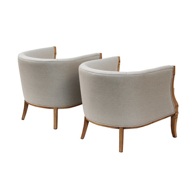 Hollywood Regency Barrel Back Chairs - A Pair - Image 4 of 10
