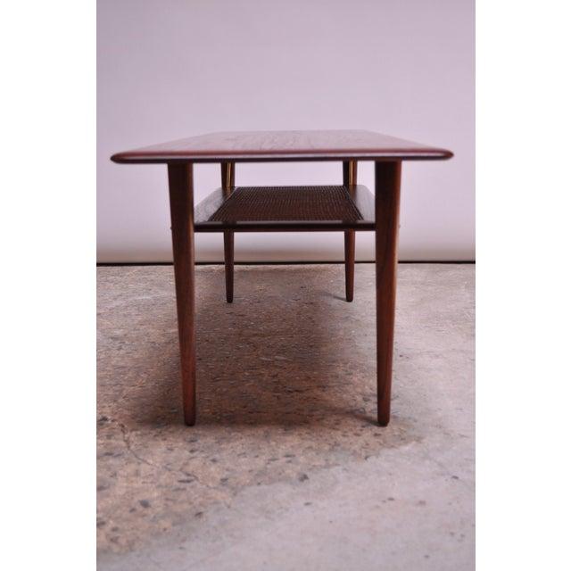 1950s Peter Hvidt & Orla Mølgaard Nielsen Teak and Cane Coffee Table For Sale - Image 5 of 13