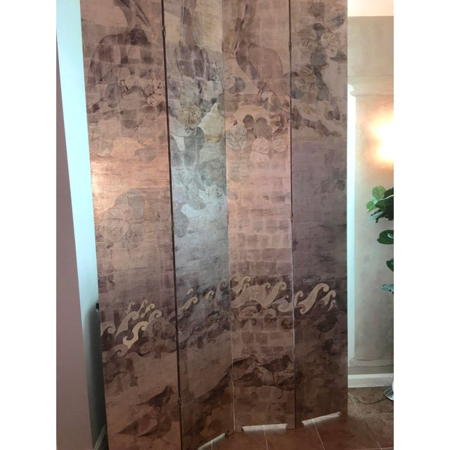 Hand Painted Folding Screen - Image 7 of 7