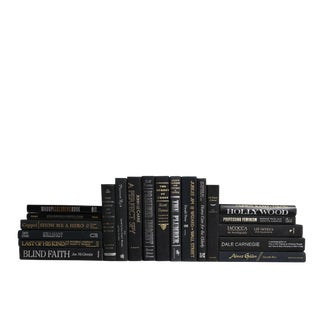 Retro Black Adorned With Gold & Silver : Set of Twenty Decorative Books