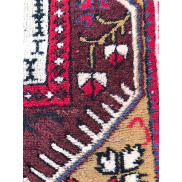 Anatolian Geometric Milas Red Rug For Sale - Image 4 of 5
