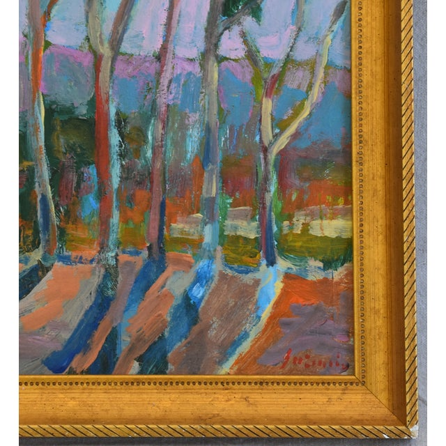 Juan Pepe Guzman Santa Barbara Abstract Landscape Oil Painting For Sale - Image 4 of 9
