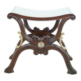 Theodore Alexander Althorp Regency Mahogany Stool For Sale