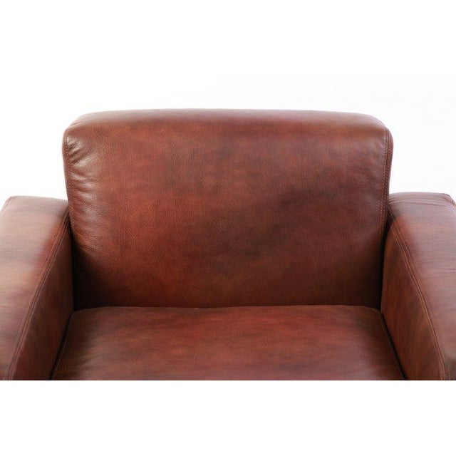 Metropolitan Leather and Bronze Lounge Chairs - Set of 4 For Sale In Phoenix - Image 6 of 7