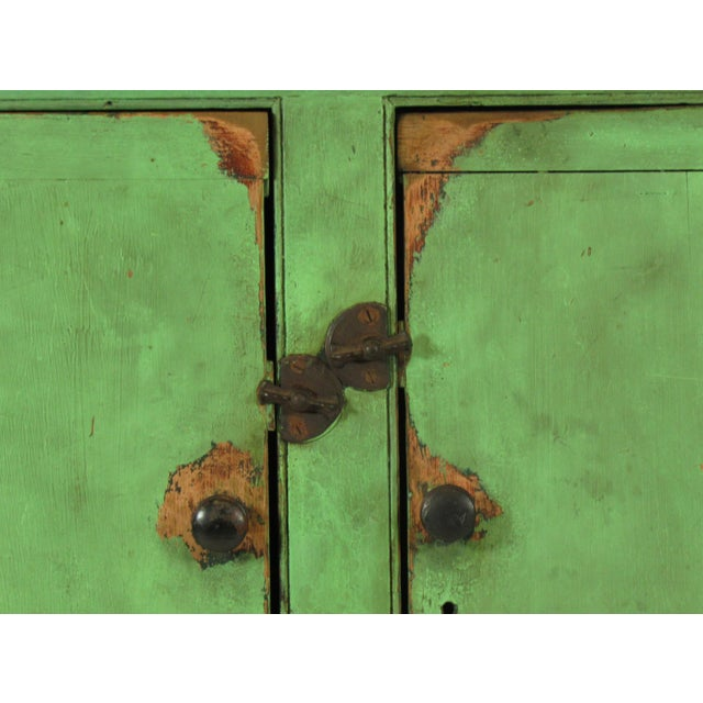 19th C. American Green Painted Cupboard For Sale In Boston - Image 6 of 12