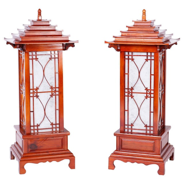Large Pagoda Table Lamps - A Pair For Sale - Image 9 of 9