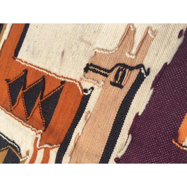 Vintage Peruvian Textile Wall Hanging Alpaca Parade - Image 8 of 11