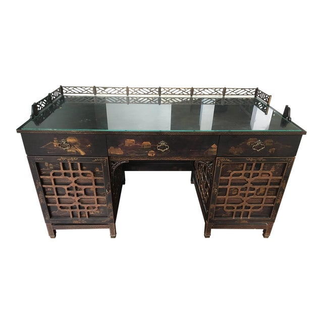 Drexel Heritage Mandalay Asian Chinoiserie Desk - Image 1 of 11