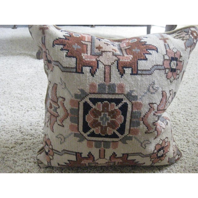 Ralph Lauren set of two needlepoint pillows with wonderful geometric design. These pillows would work well in a variety of...