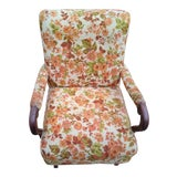 Image of Vintage Floral Platform Rocker For Sale
