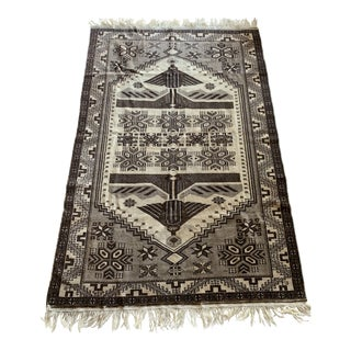 1980s Turkish Area Rug - 4′2″ × 8′2″ For Sale