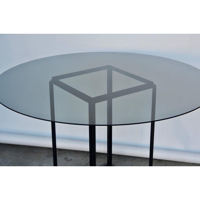 """Contemporary Design Frères The """"Cuboid"""" Minimalist Center or Breakfast Table For Sale In Los Angeles - Image 6 of 7"""