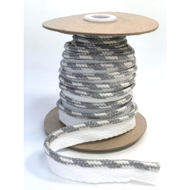 """One 10 yard spool of 1/4"""" braided cord with 1/2"""" wide for flange sewing. Total height: 3/4"""" This item: suitable for..."""