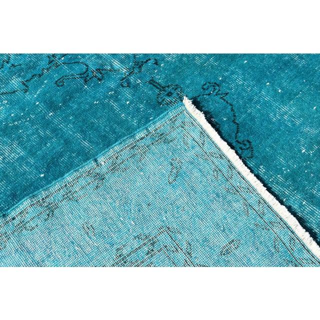 Turquoise Overdyed Vintage Oushak Rug - 6′8″ × 10′6″ - Image 6 of 6