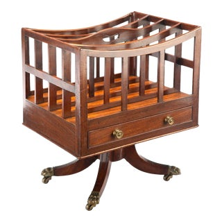 19th Century English Regency Period Mahogany Canterbury For Sale