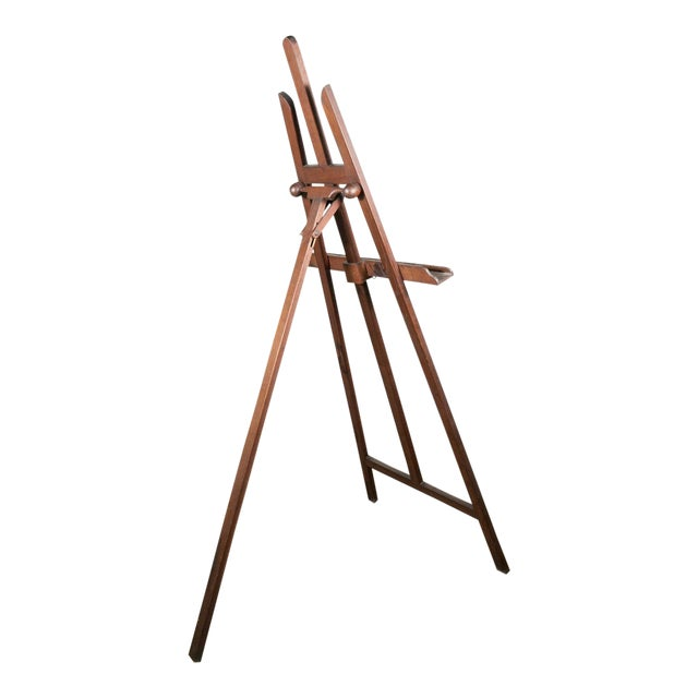 20th Century French Adjustable Oak Painters Easel For Sale