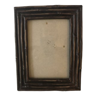 Vintage Faux Bamboo Picture Frame For Sale