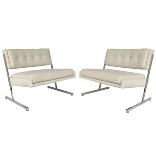 Pair of Harvey Probber Cantilever Slipper Lounge Chairs For Sale