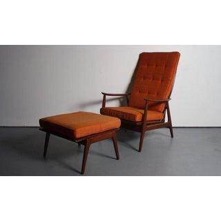 Danish Modern Walnut Lounge Chair & Ottoman Preview