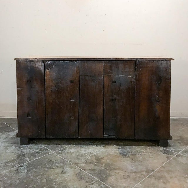 19th Century English Stripped Oak Buffet For Sale - Image 12 of 13