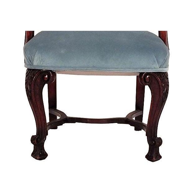 Regency Mahogany Open Armchairs - A Pair - Image 6 of 6