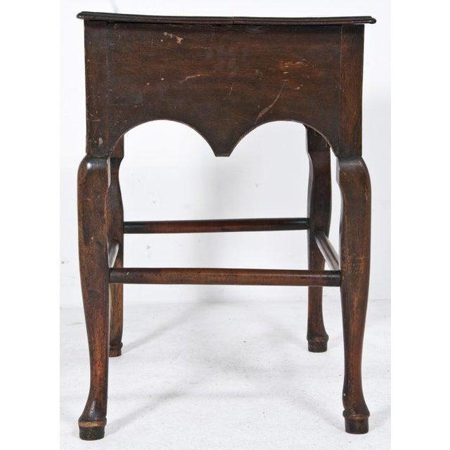 Early 20th Century Edwardian English Oak Dressing Table / Lowboy For Sale - Image 5 of 11
