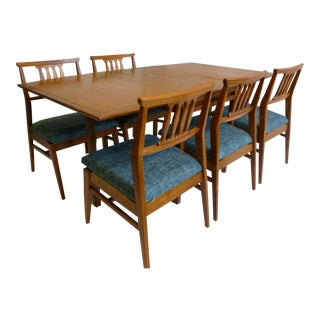 Mid Century Tung Si Dining Set For Sale