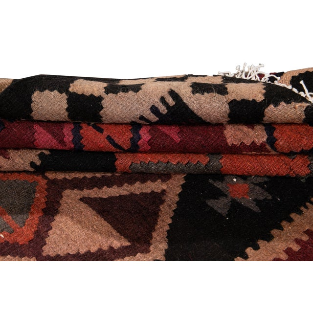 "Mid 20th Century Mid-20th Century Vintage Kilim Runner Rug 5' 1"" X 12' 2''. For Sale - Image 5 of 13"