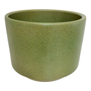 Mid Century Modern Green Gainey Planter For Sale