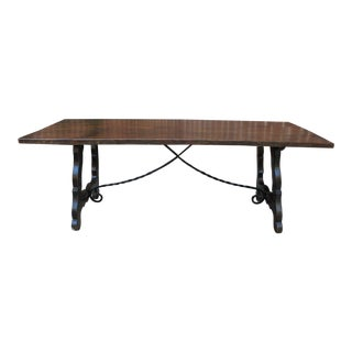 19th CenturyMission Farmhouse Dining Table For Sale