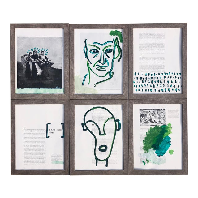 """""""A Self-Made Man,"""" Set of 6 Acrylic Paintings For Sale"""