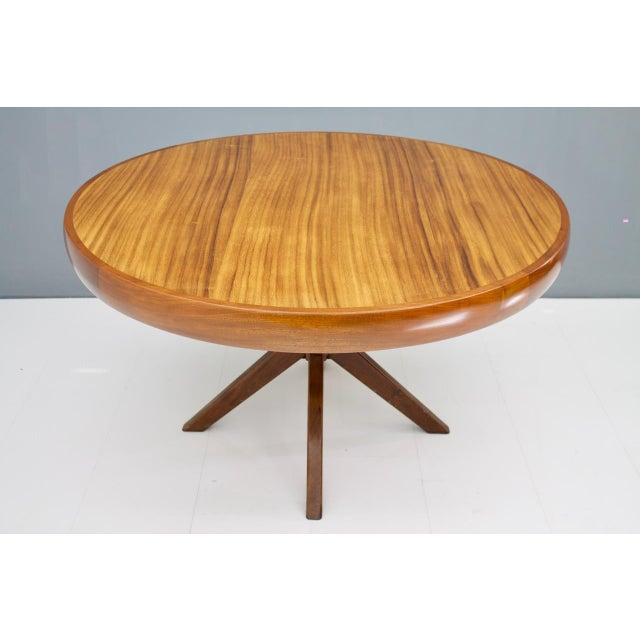 Round Dining Table From Brazil, 1960s For Sale - Image 4 of 5