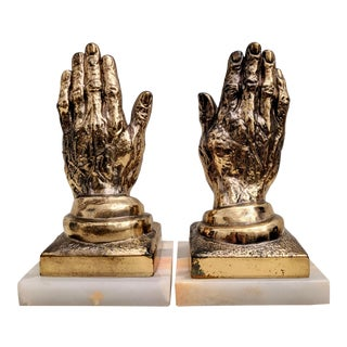 Hands Bookends, a Pair For Sale