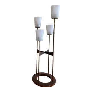 Mid-Century Modern 4-Tiered Lamp For Sale
