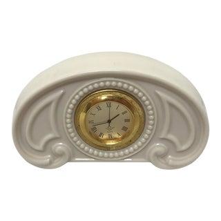 Vintage Neoclassical Lenox Bedside Clock For Sale