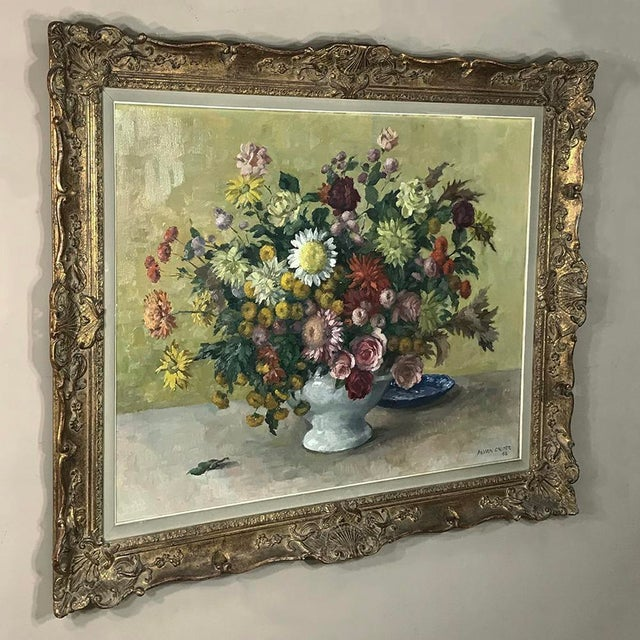Belgian Antique Hand Painted Oil on Canvas by Marcel Van Cauter For Sale - Image 3 of 12