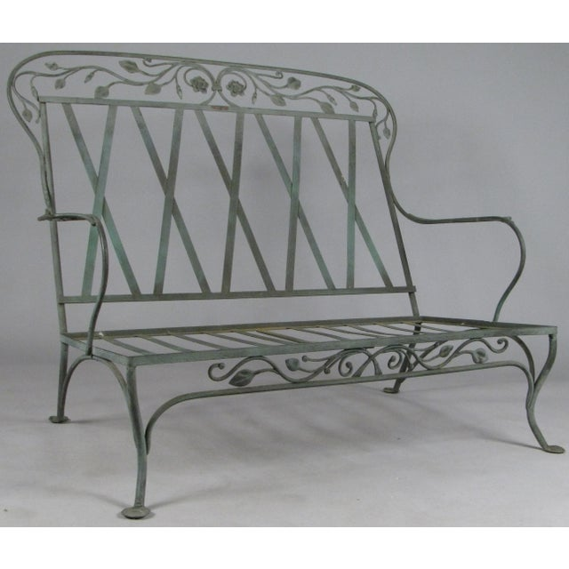 Wrought Iron Settees by Salterini, Circa 1950 - a Pair For Sale - Image 10 of 11