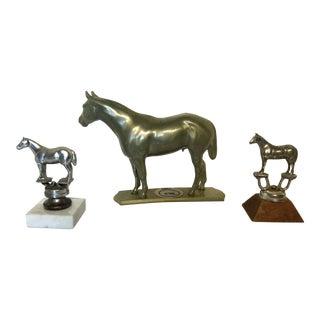 1960s Rustic Horse Trophy Set - 3 Pieces For Sale