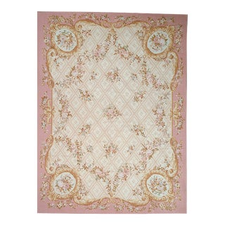 Pasargad Aubusson Hand-Woven Wool Rug- 9' X 12'