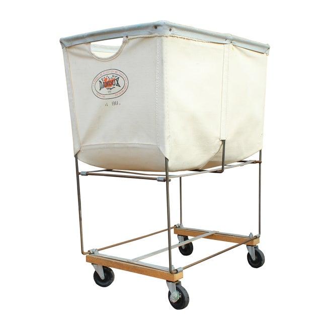 Vintage Dandux Industrial Laundry Cart - Image 1 of 2