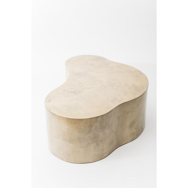 Lacquered Goatskin Free Form Low Table, Usa For Sale In New York - Image 6 of 7