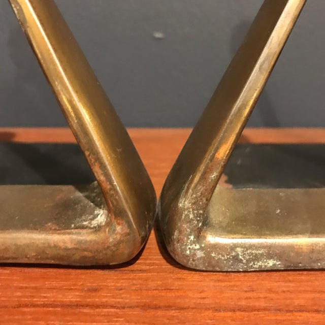 Ben Seibel Brass Bookends - A Pair - Image 3 of 4